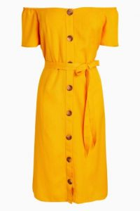 NEXT Yellow Bardot Dress