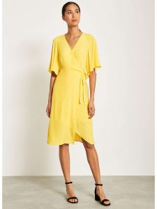 Mint Velvet Tuscan Yellow Wrap Dress